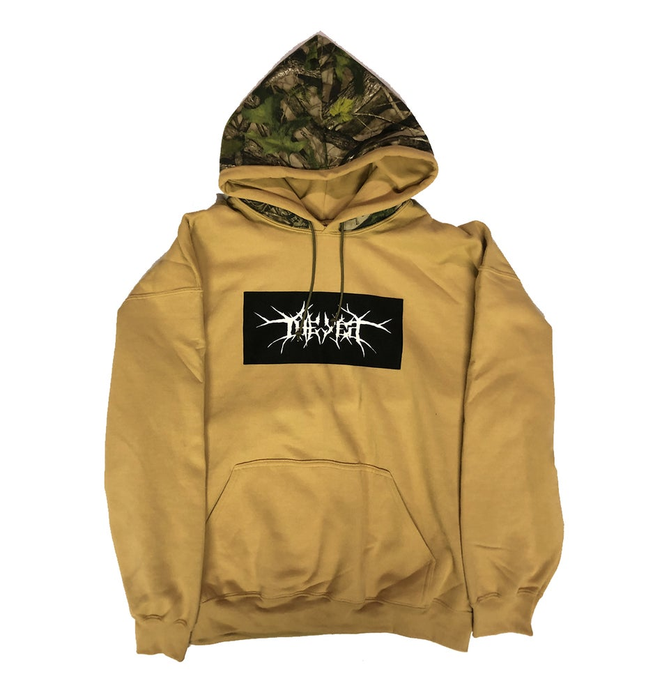 Image of 1of1: Tan w Camo Hood XL