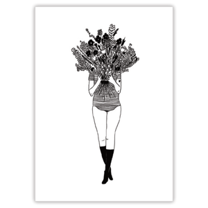 Image of AFFICHE A4 FLOWER GIRL, HELEN B