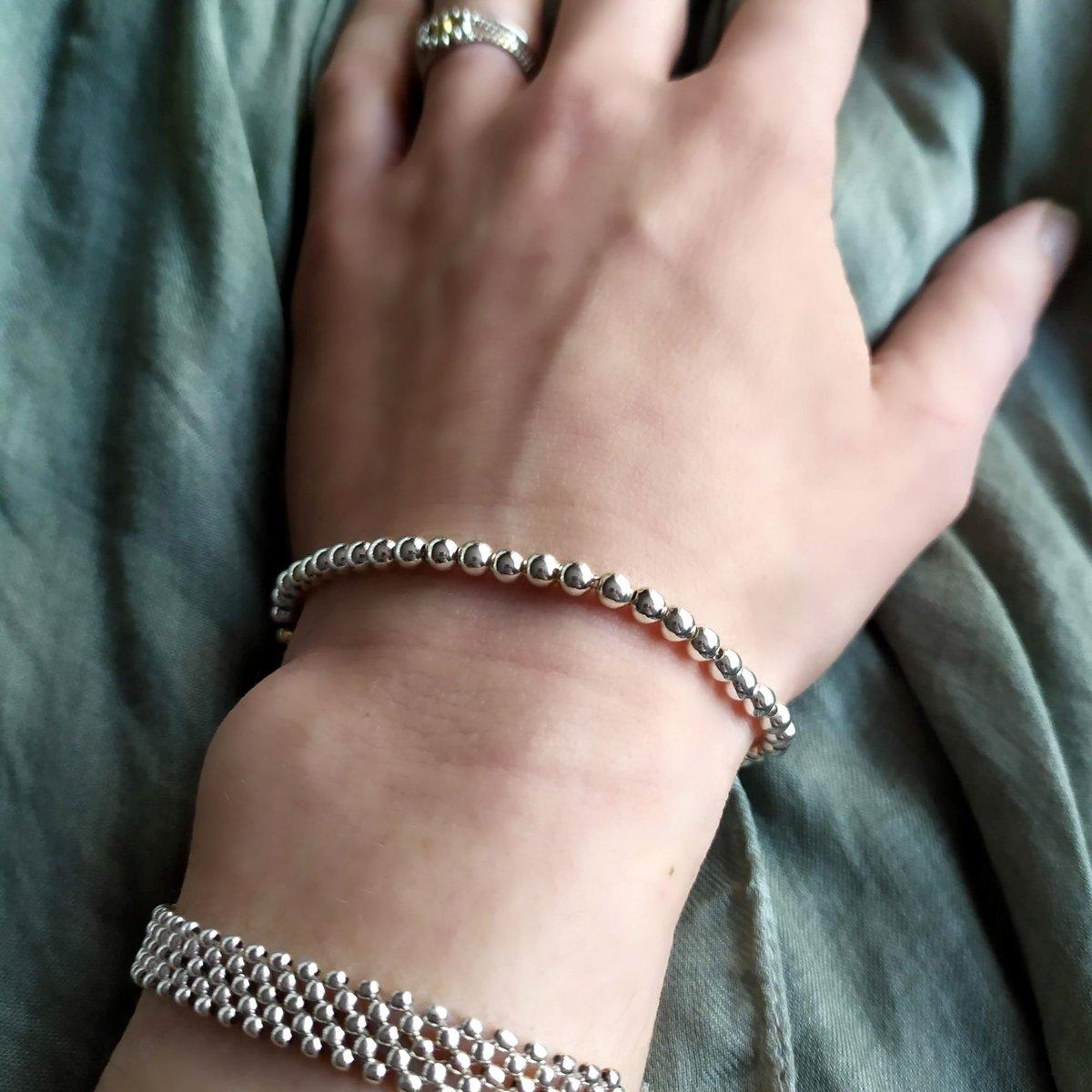 """Image of Bracelet boules argent """"Alix"""""""