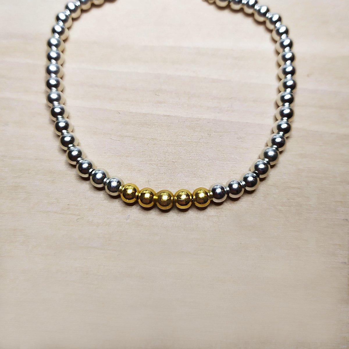 "Image of Bracelet Boules Or et Argent ""Ando"""