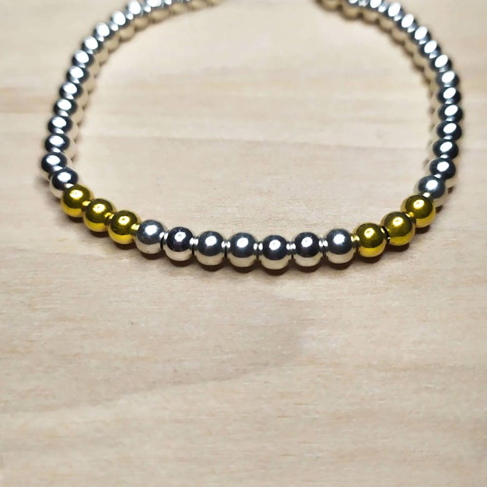 """Image of Bracelet Argent et Or """"Arno"""""""