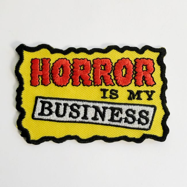 Image of Horror is my Business Iron On Patch