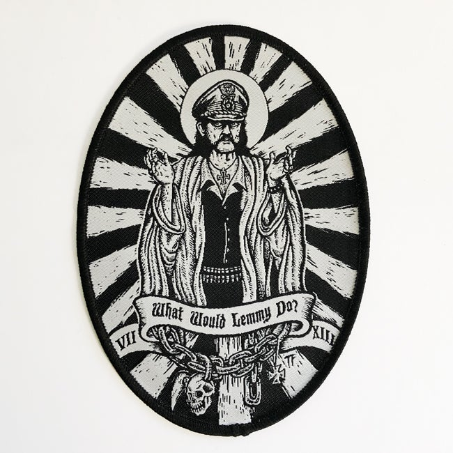 Image of What would Lemmy do woven patch