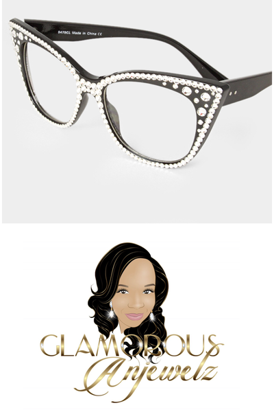 Image of Glam Crystal Cateye Sunglasses
