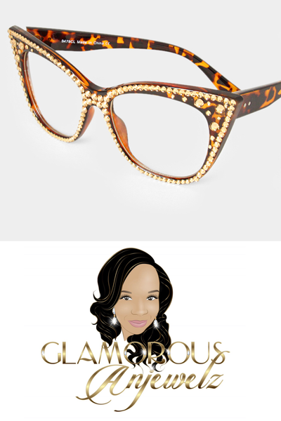 Image of Le Tigre Crystal Cateye Glasses
