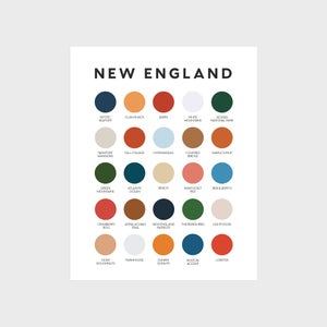 Image of New England Color Palette