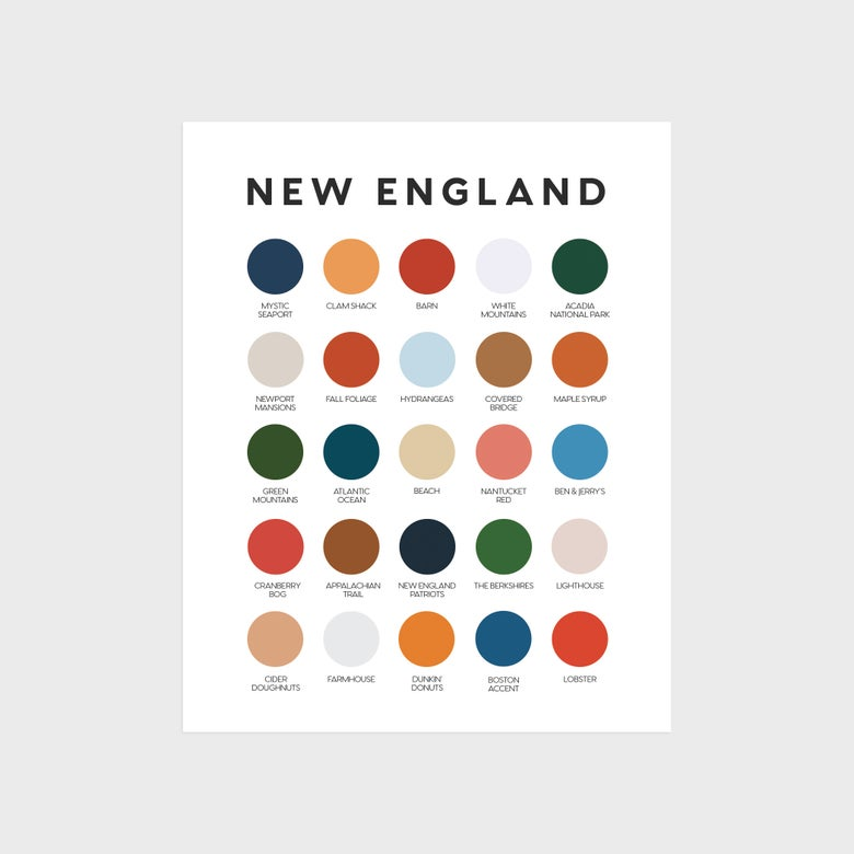 Image of New England Icons Color Palette