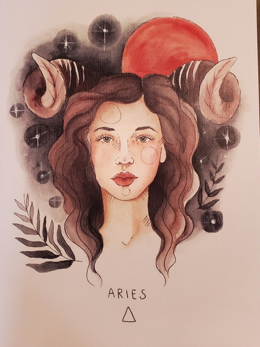 Image of Aries Zodiac Print