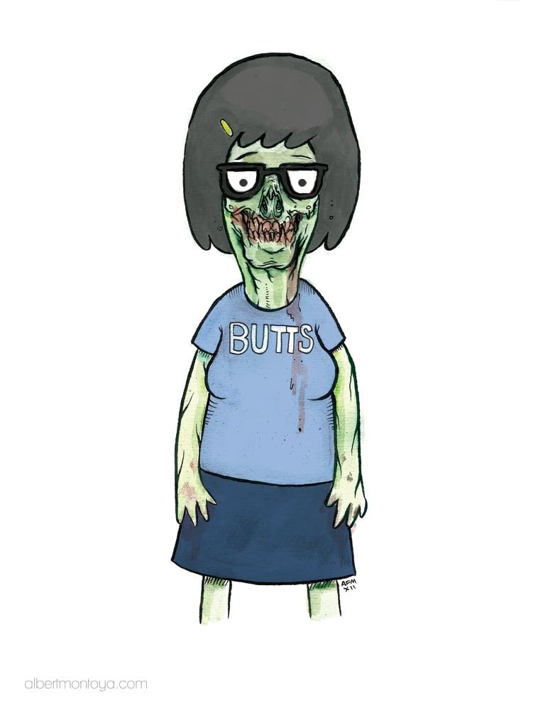 "Image of Print ""Zombie Tina"""