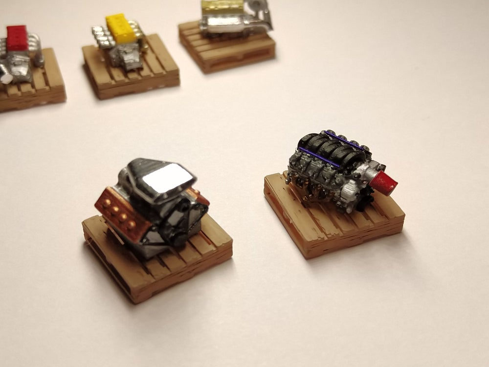 Image of 1/64 Resin engines