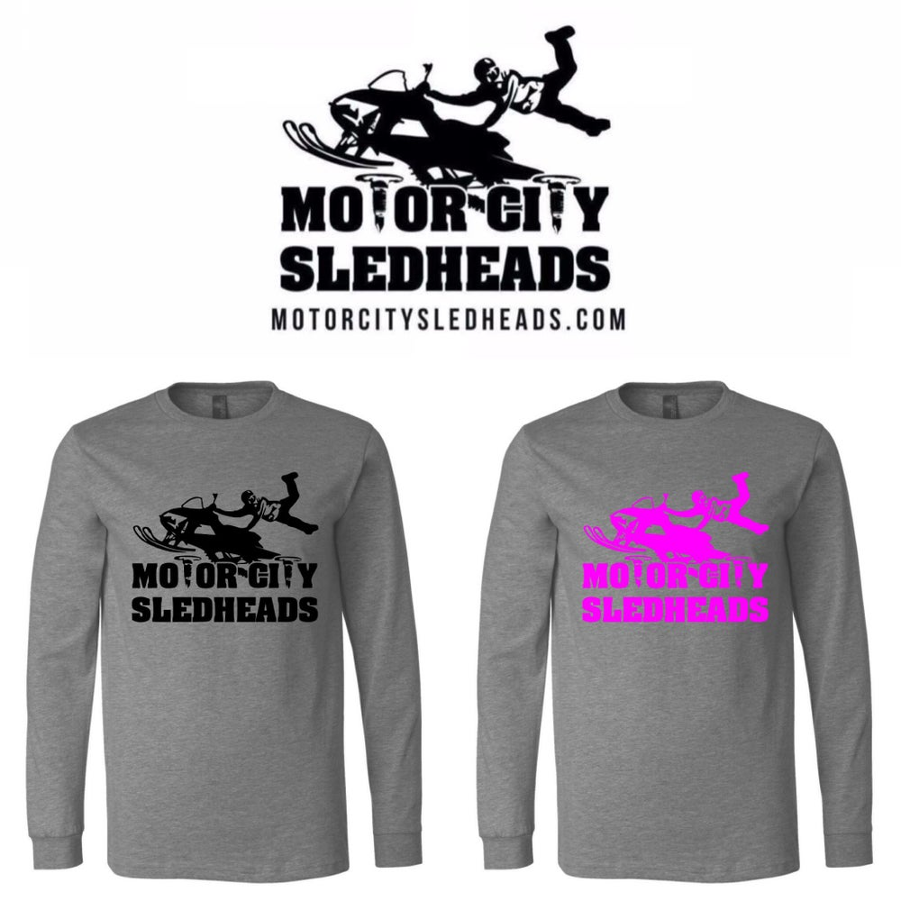 Image of Motor City Sledhead Unisex Long Sleeve Tee