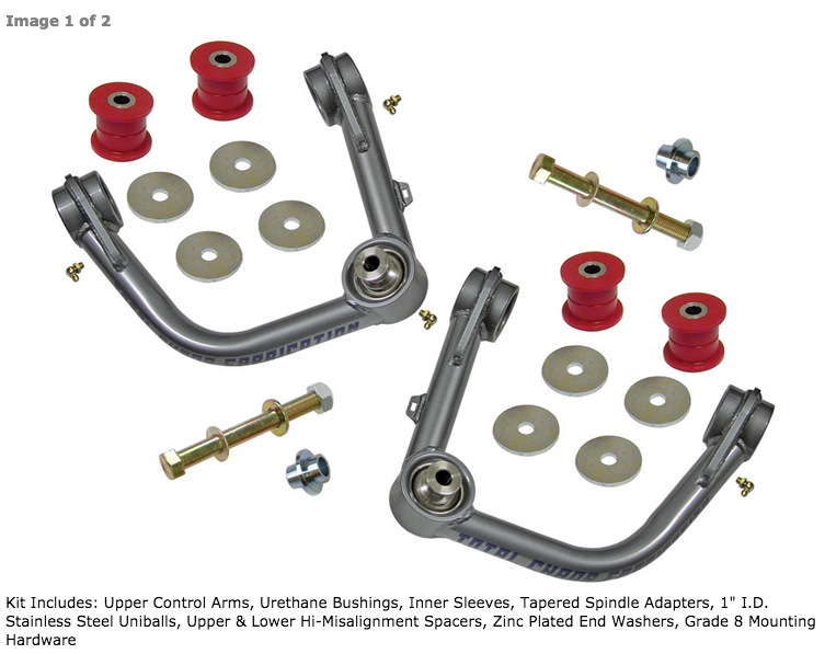 Image of Total Chaos 05+ Tacoma, 03+ 4Runner, 07+ FJ Cruiser Upper Control Arm Kit