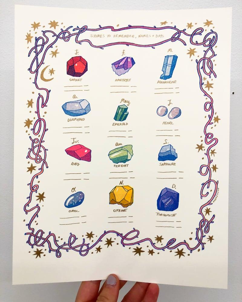 Image of Precious Birthstones print
