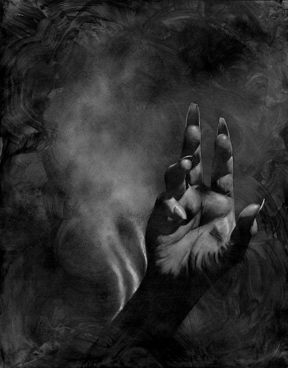 Image of Allen Williams 'The Burning Hand' original art