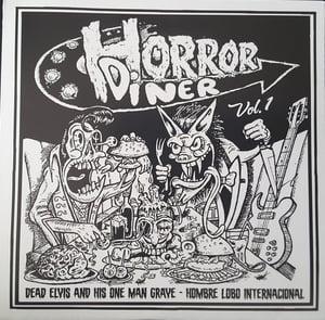 "Image of 7"" EP. Dead Elvis & Hombre Lobo : Horror Diner."