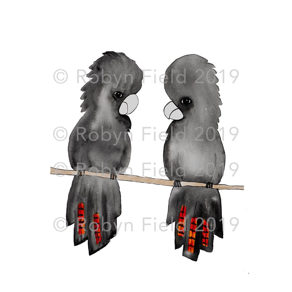 Image of Australian Artwork Print - A pair of Glossy Blacks
