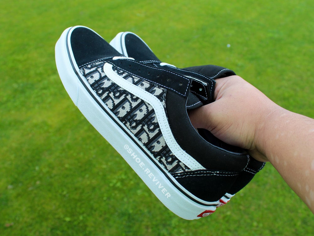 Image of Black Dior Old Skool Lows