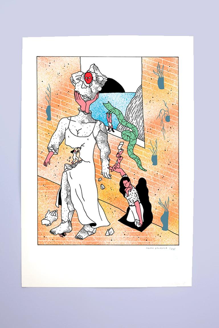 Image of Amina Bouajila Screenprint Poster