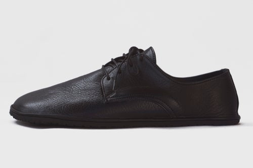 Image of Plain Toe Derby in Veg-tanned Lustrous Black