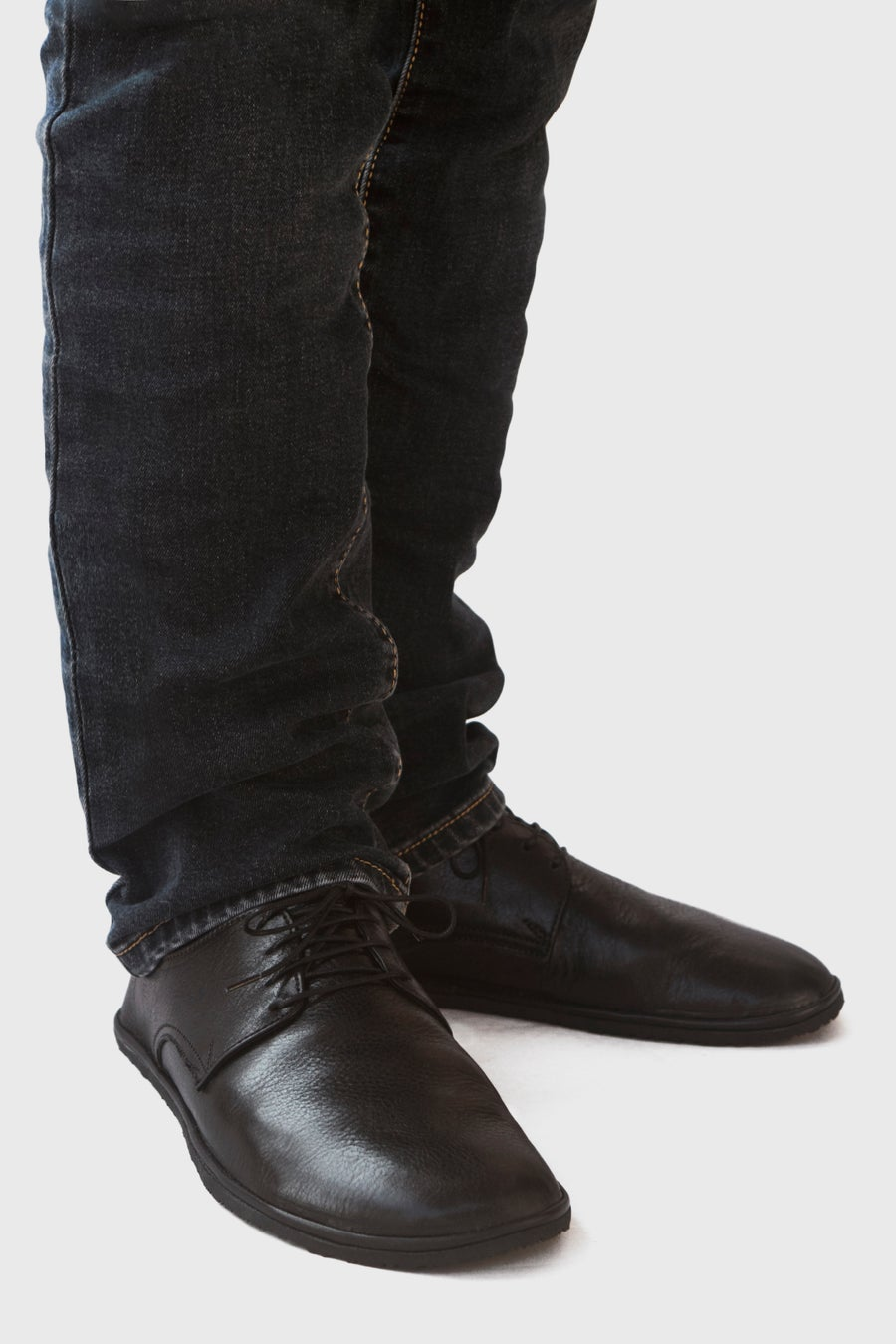 Image of Plain Toe Derby in Veg-tanned Lustrous Black