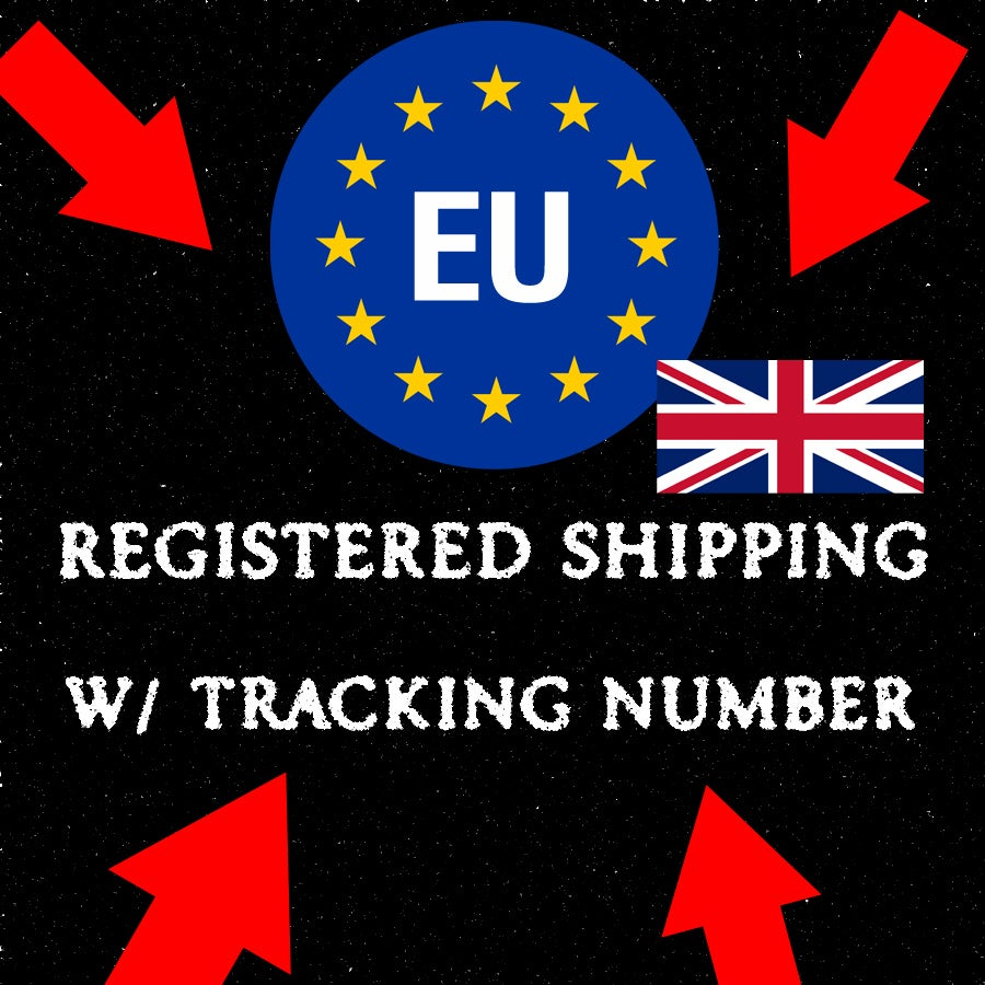 Image of + REGISTERED / TRACKABLE SHIPPING (EU)