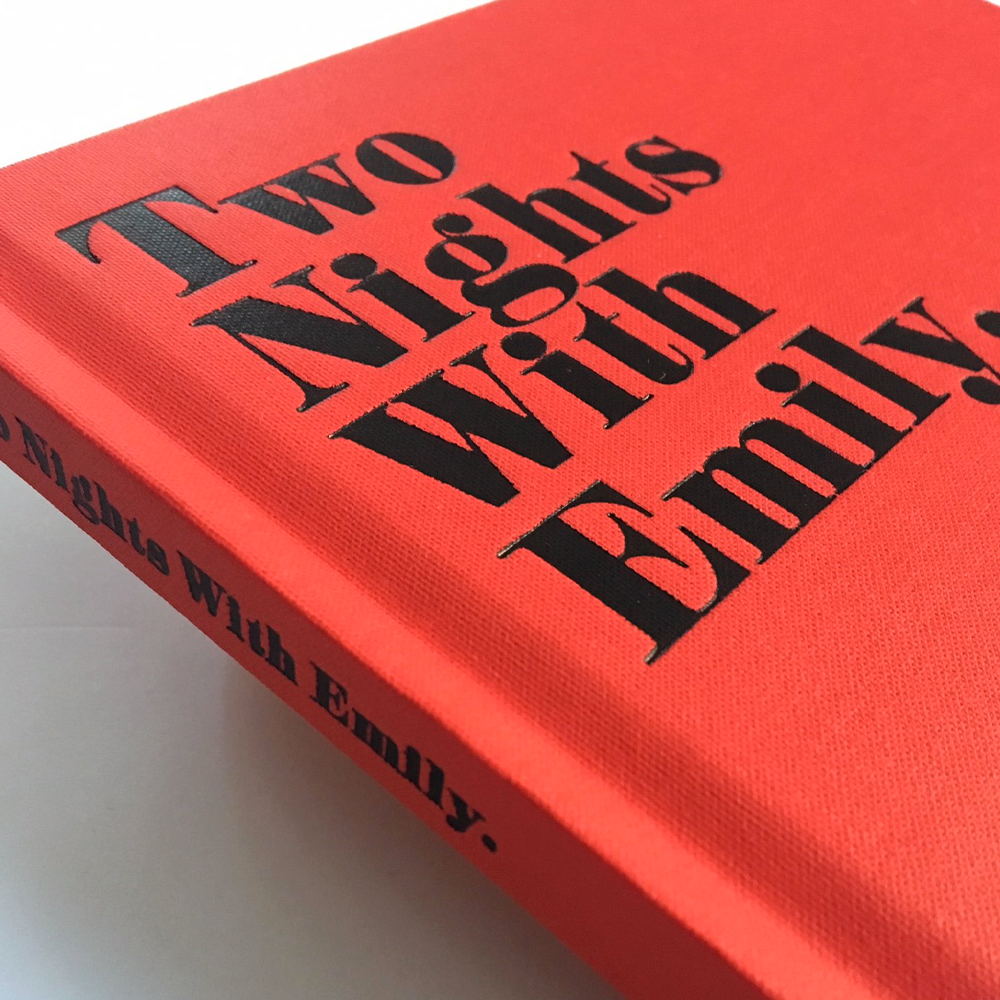 Image of TWO NIGHTS WITH EMILY. 1ST EDITION. Start Shipping Soon Last copies