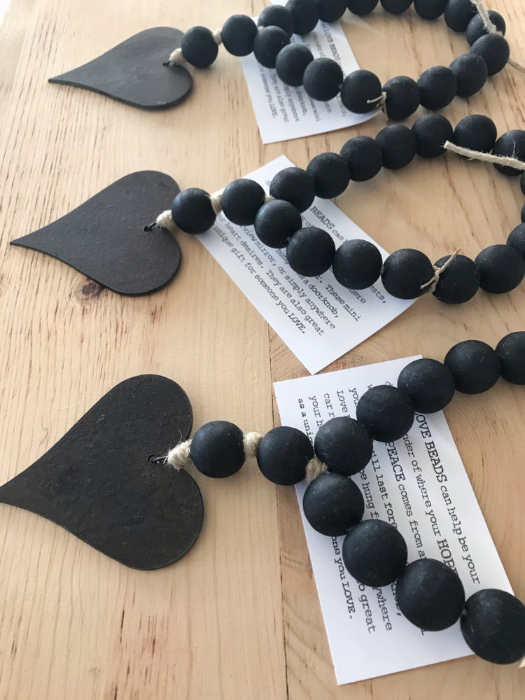 Image of MINI LOVE BEADS - MODERN BLACK HEART