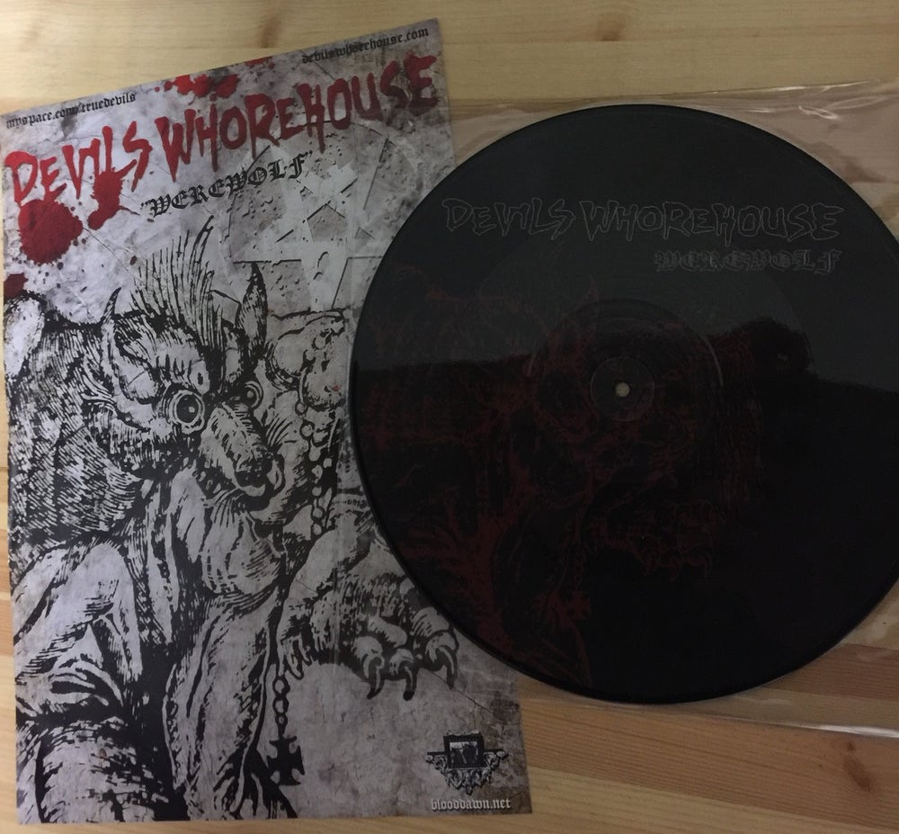 "Image of Devils Whorehouse - Werewolf 12"" pic disc"