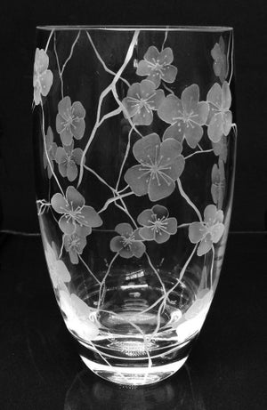 Image of Large 'cracks and flowers' vase