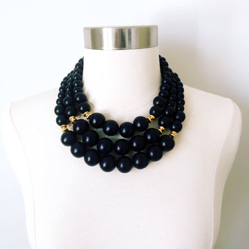Image of Black Wood Necklace