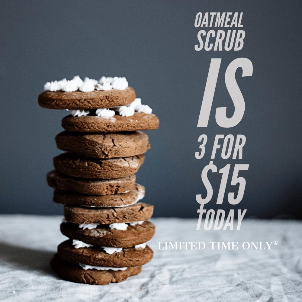 Image of Oatmeal Scrub Sale
