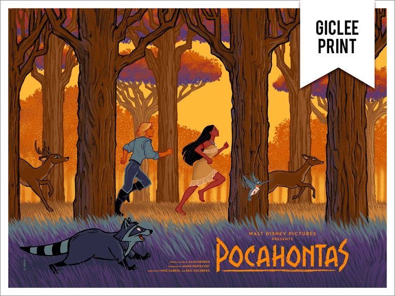 Image of POCAHONTAS (REGULAR) - GICLÉE - LIMITED EDITION - 24x18