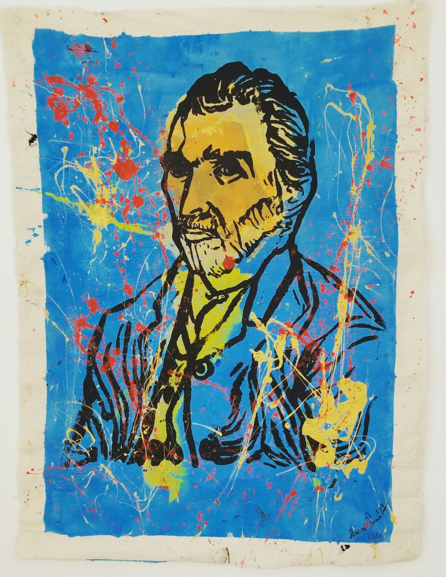 "Image of ""Van Gogh, Self Portrait.""  Original silkscreen."