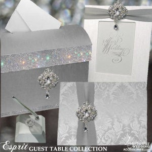 Image of Luxurious Wedding Accessories Exclusive Guest Book Table Decor