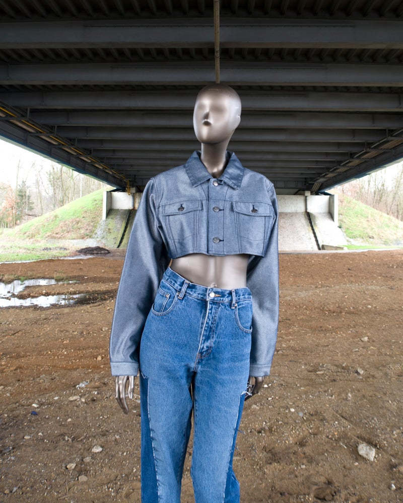 Image of Cropped denim jacket