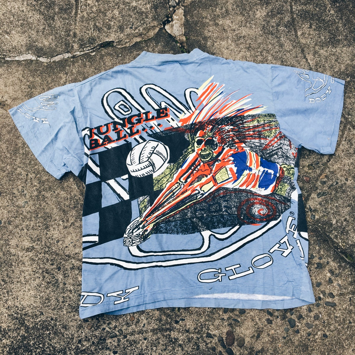 "Image of Original 90's Made In USA Body Glove ""Jungle Ball"" Tee."