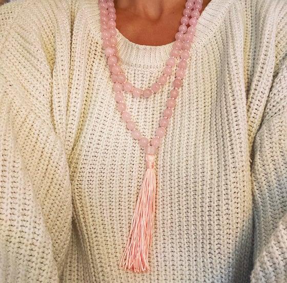 Image of Rose quartz Mala