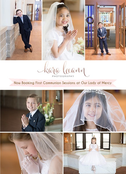 Image of Our Lady of Mercy First Communion Sessions
