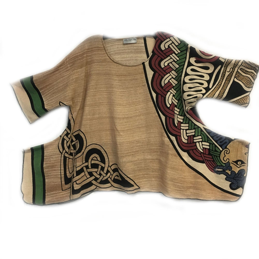 Image of Lisa Top - Celtic hand block printed and handwoven fabric - One-of-a-kind!