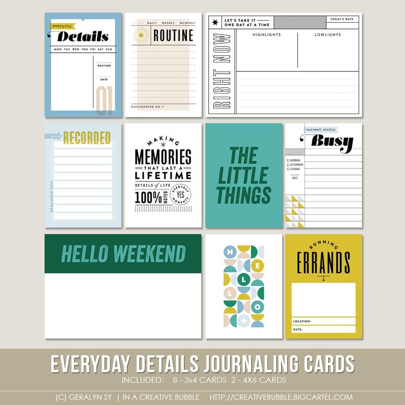 Image of Everyday Details Journaling Cards (Digital)
