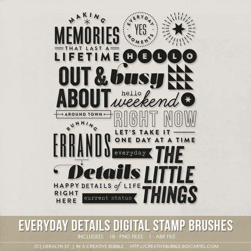 Image of Everyday Details Stamp Brushes (Digital)