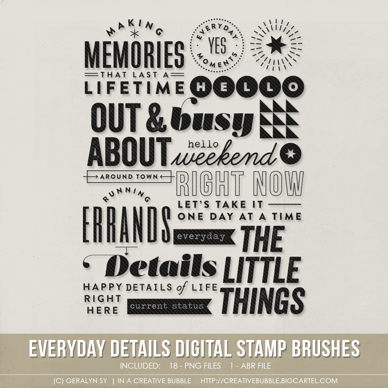 Image of Everyday Details Stamp Brushes (Digital)