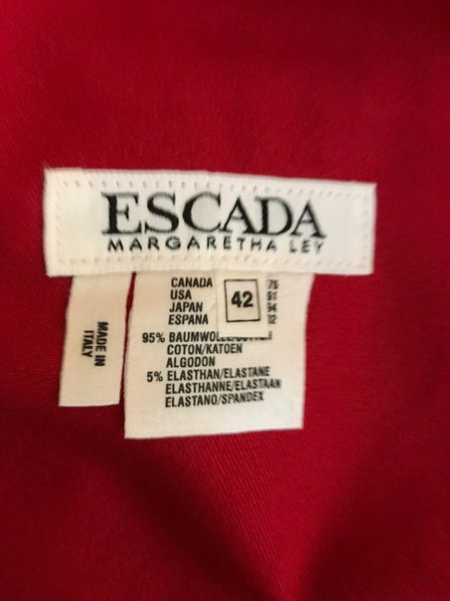 Image of Escada Red Denim Jeans (Size 42)