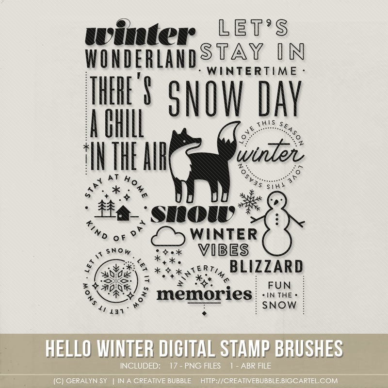 Image of Hello Winter Stamp Brushes (Digital)