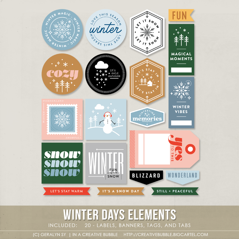 Image of Winter Days Elements (Digital)