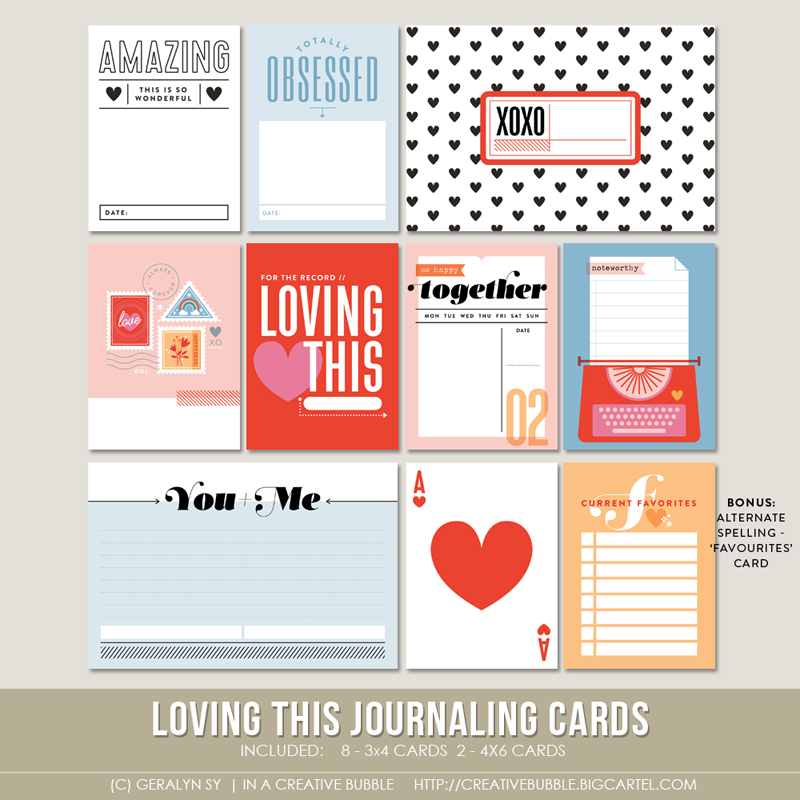 Image of Loving This Journaling Cards (Digital)