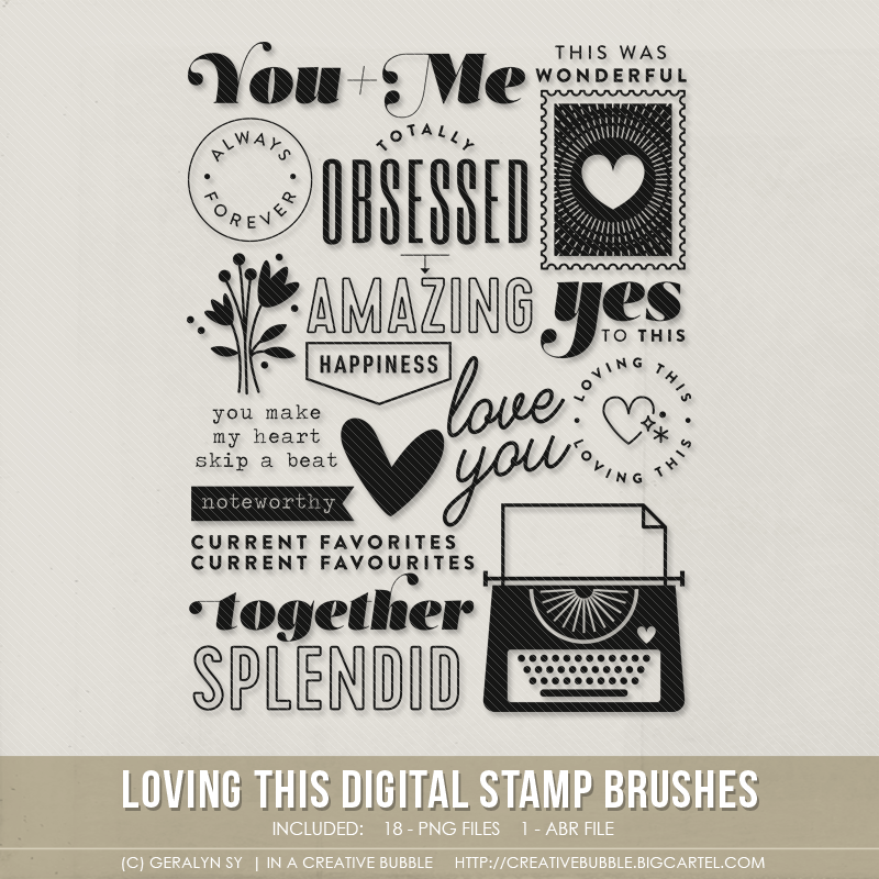 Image of Loving This Stamp Brushes (Digital)