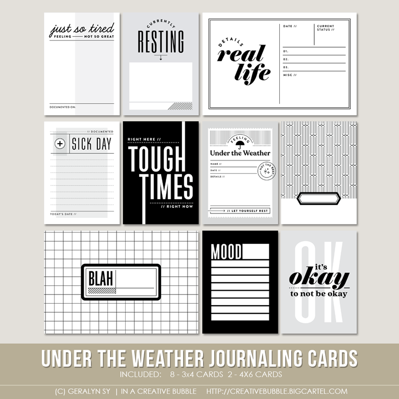 Image of Under the Weather Journaling Cards (Digital)