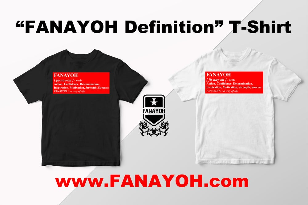"Image of Custom ""Box Definition of FANAYOH"" (Red Box/White Print)"