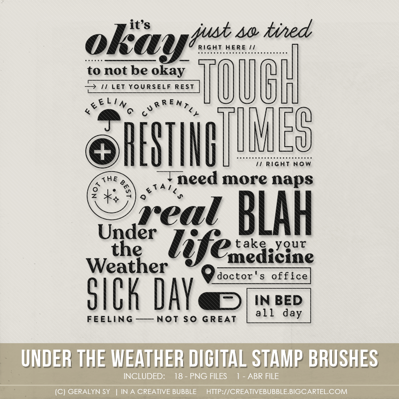 Image of Under the Weather Stamp Brushes (Digital)